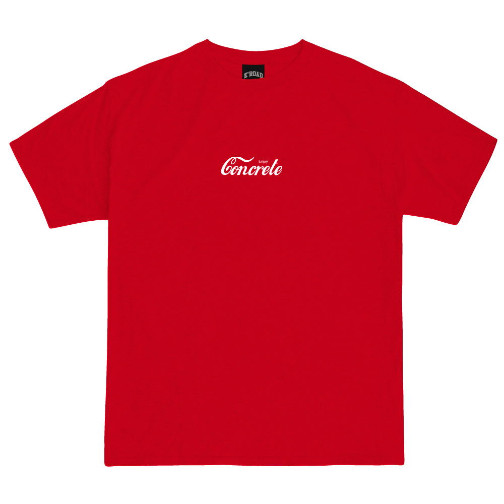Def Mini Mart Enjoy Concrete Tee - Red