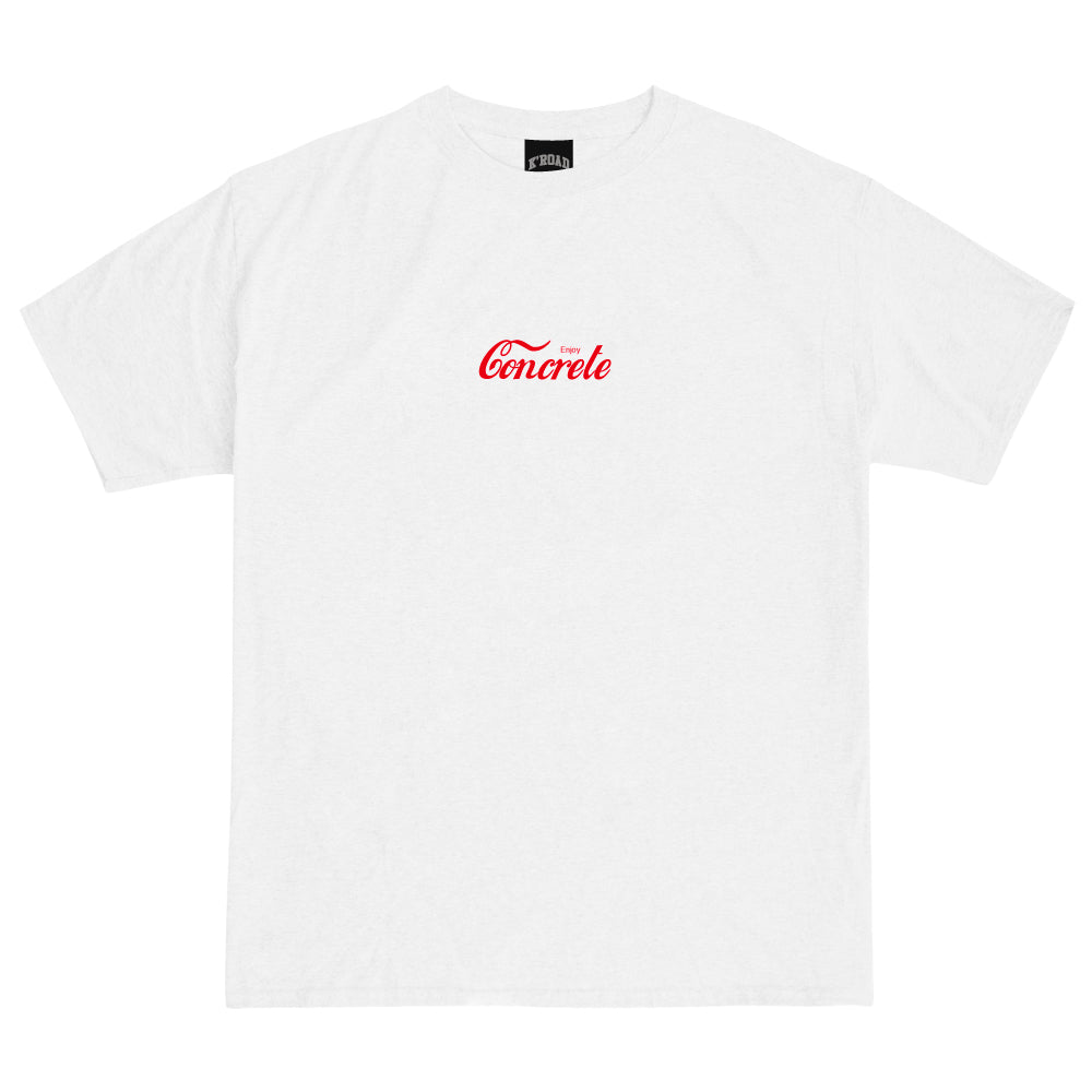 Def Mini Mart Enjoy Concrete Tee - White