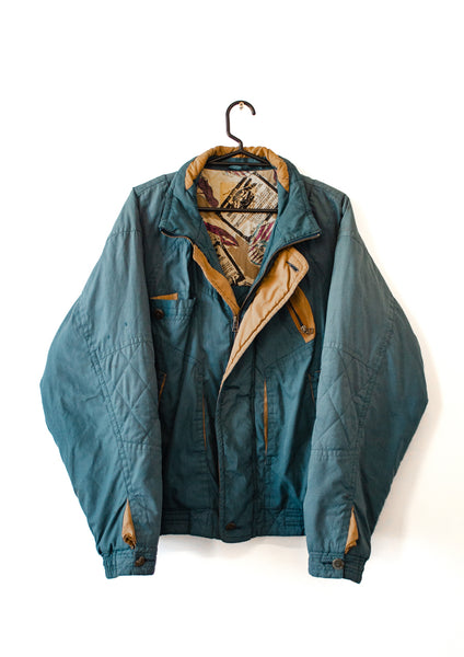 Vintage Airship BlueGreen Jacket - Large