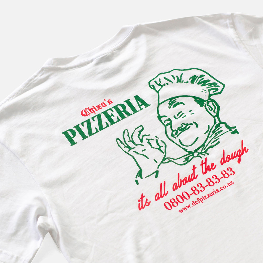 Load image into Gallery viewer, Def Chiza's Pizzeria Tee - White
