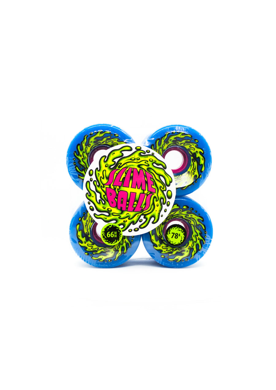 Santa Cruz Slime Balls Blue 78a Wheels - 66mm