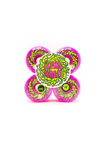 Santa Cruz Slime Balls OG Slime Pink 78a Wheels - 2 Sizes