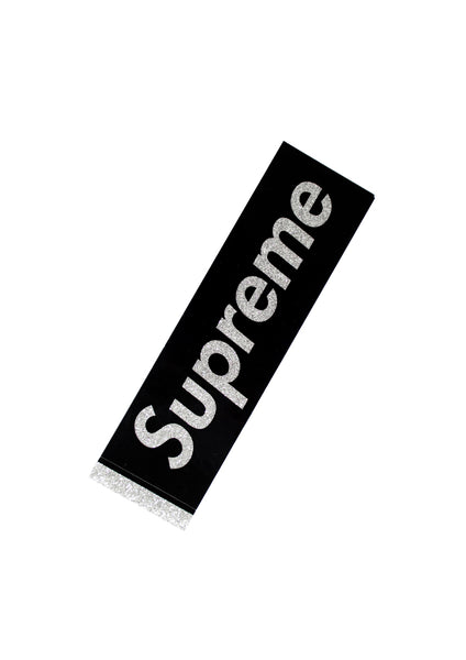 Supreme Glitter Box Sticker - Black