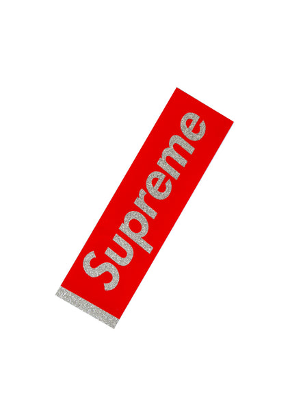 Supreme Glitter Box Sticker - Red