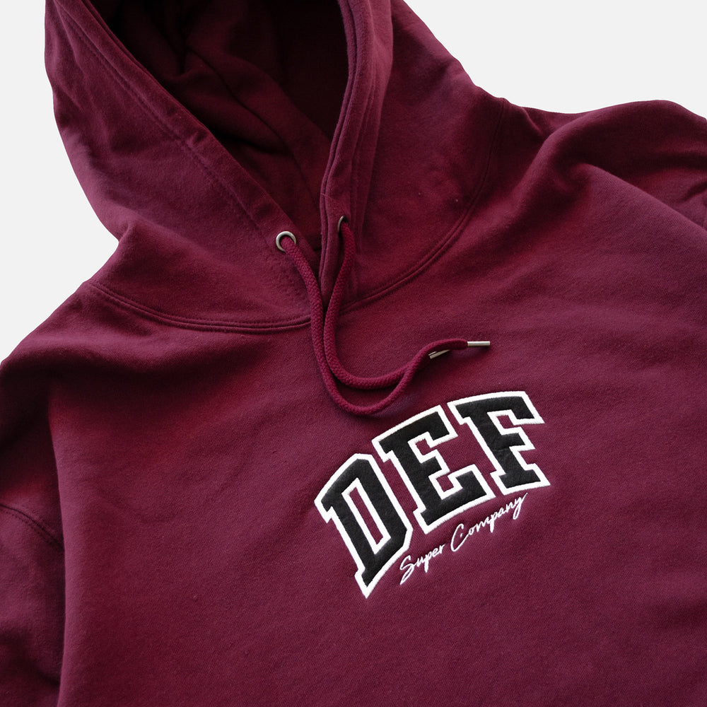 Load image into Gallery viewer, Def Super Appliqué Hood - Maroon (Mid-Weight)