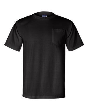 Bayside - Union-Made Short Sleeve T-Shirt with a Pocket. 3015