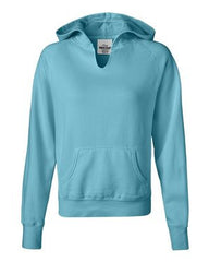 Comfort Colors - Women's Garment Dyed Ringspun Hooded Pullover. 1595
