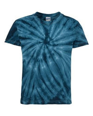 Dyenomite - Youth Cyclone Vat-Dyed Pinwheel Short Sleeve T-Shirt. 20BCY