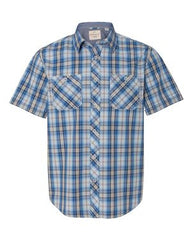 Weatherproof - Vintage Plaid Short Sleeve Shirt. 154620
