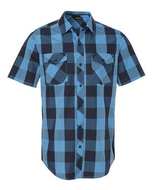 Burnside - Buffalo Plaid Short Sleeve Shirt. 9203