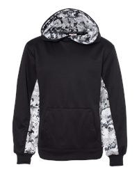 Badger - Digital Camo Youth Colorblock Performance Fleece Hooded Sweatshirt