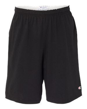 "Champion - 9"" Inseam Cotton Jersey Shorts with Pockets. 8180"
