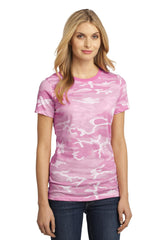 District Made - Ladies Perfect Weight Camo Crew Tee DM104CL