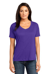 District Made - Ladies Modal Blend Relaxed V-Neck Tee. DM480