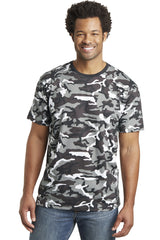 District Made Mens Perfect Weight Camo Crew Tee. DT104C