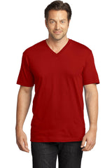 District Made Mens Perfect Weight V-Neck Tee. DT1170