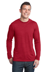 District - Young Mens Textured Long Sleeve Tee. DT171