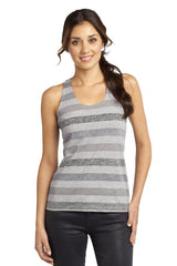 District - Juniors Reverse Striped Scrunched Back Tank. DT229
