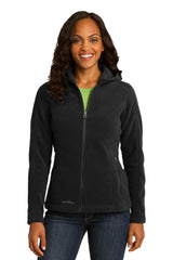 Eddie Bauer Ladies Hooded Full-Zip Fleece Jacket. EB206