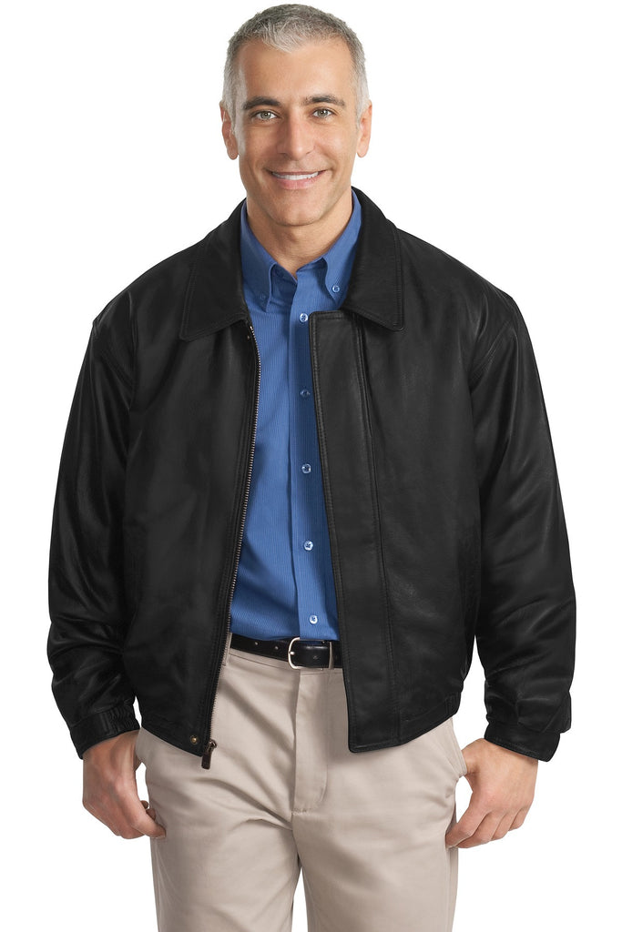 Port Authority Leather Bomber Jacket. J780