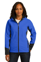 Port Authority Ladies Vertical Hooded Soft Shell Jacket. L319
