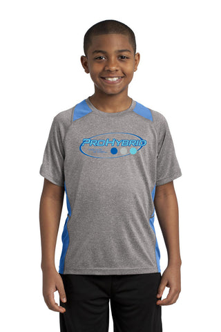 Youth Heather Contender Short Sleeve Performance Shirt (ProHybrid). YST361