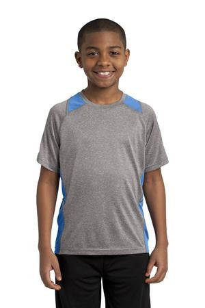 Youth Heather Contender Long Sleeve Performance Shirt (ProHybrid). YST361LS