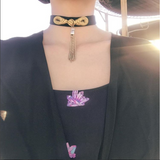 Golden Chimes Black Choker