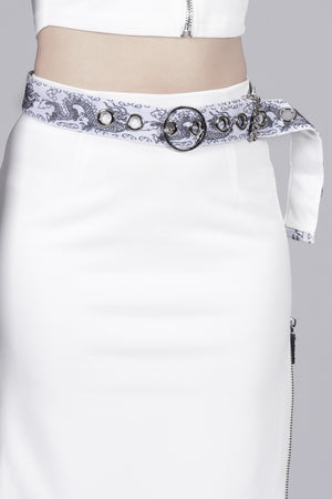 Chasing Dragon Brocade White Belt