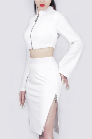 Agent Zen Zipper Slit Skirt