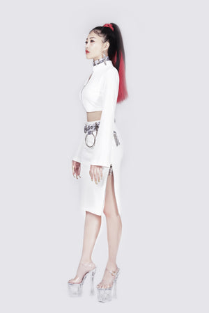 Agent Zen Qipao Cropped Zipper Jacket