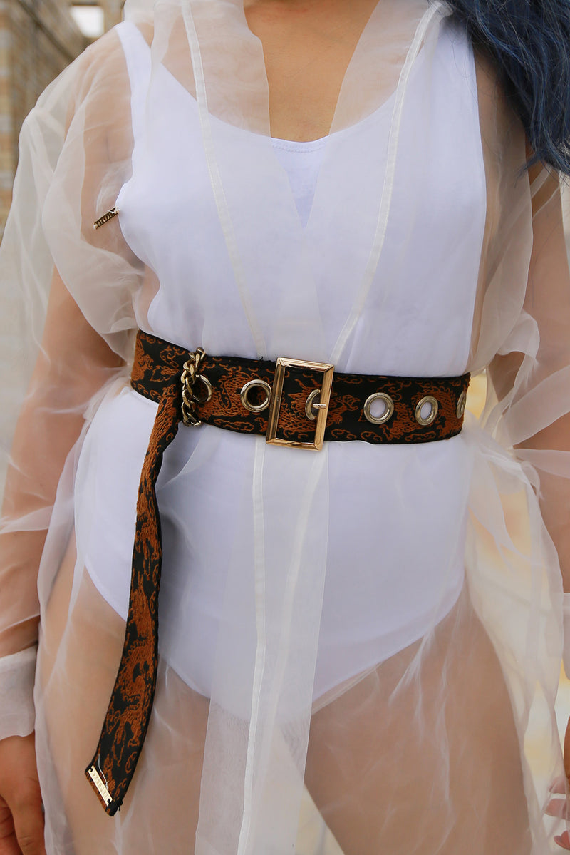 Chasing Dragon Brocade Belt