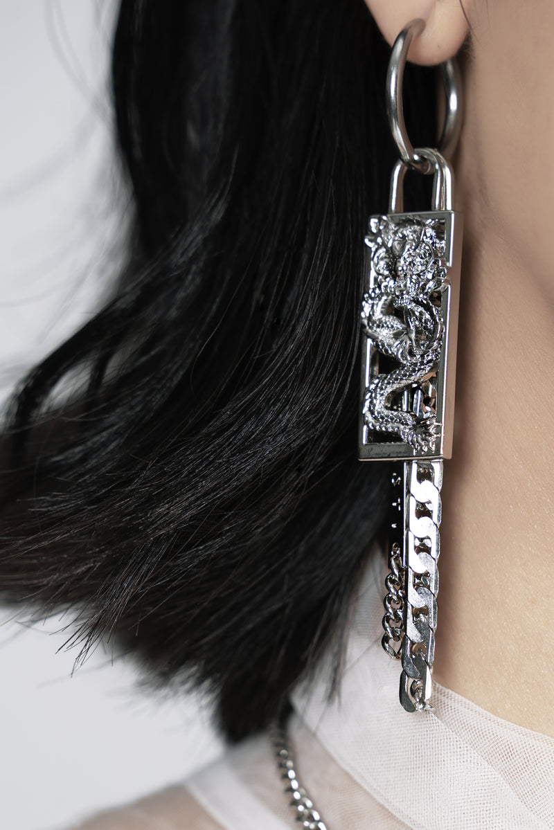 The Dragon Kill Silver Dangling Earrings