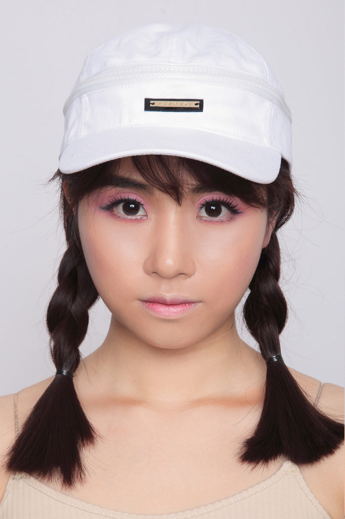 Two Way Kuji Kiri Cap/Visor in White