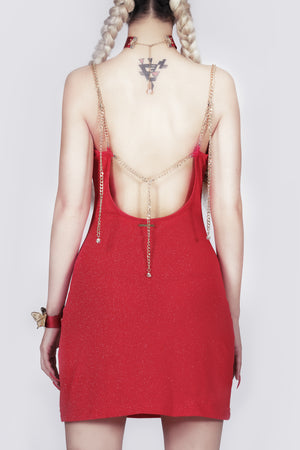 The Kill Blood Glitter Backless Mini Dress