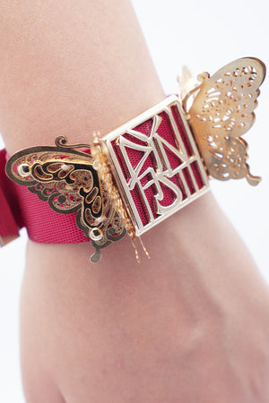 The Blood Butterfly 3D Noir Bracelet