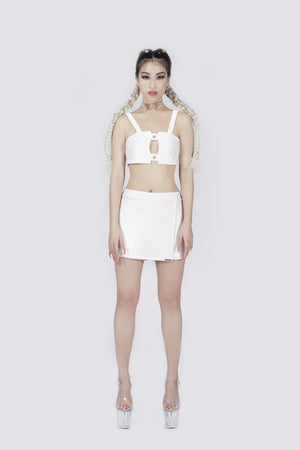 Madame Marilyn White Skirt Shorts