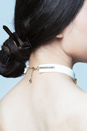 Golden Chimes White Choker