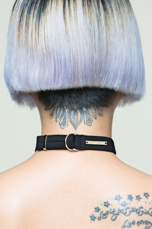 Pierced Skull Black Choker(Limited Edition Only 5)