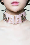 Strawberry Milk Dragon Princess Leather Collar