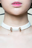 Pierced Skull White Choker(Limited Edition Only 5)
