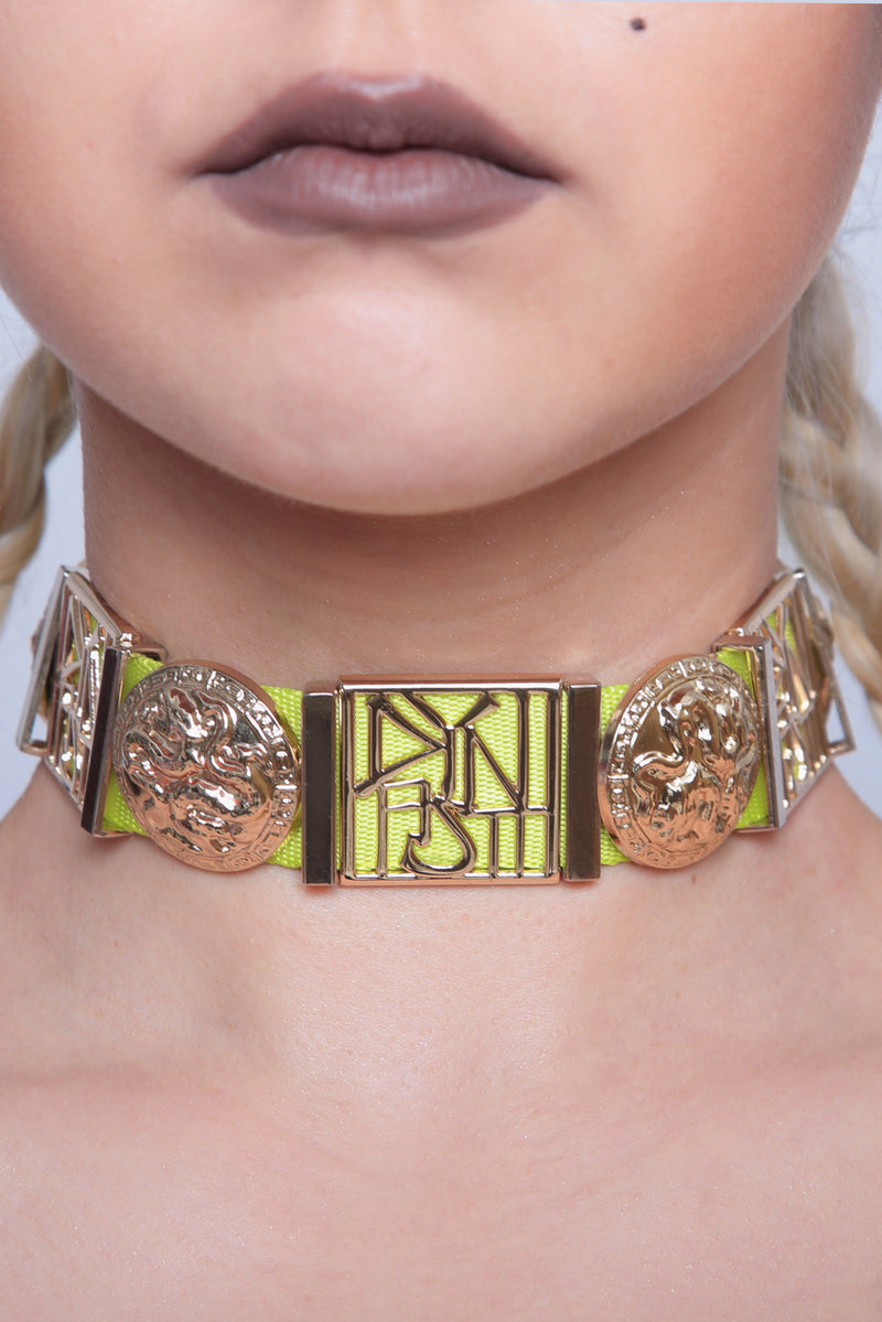 Yellow Dragon Chunky Collar