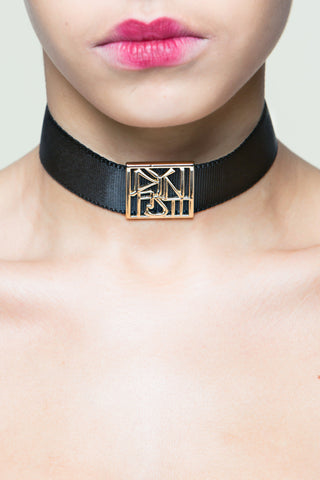 Angel Qipao Choker with Red Button