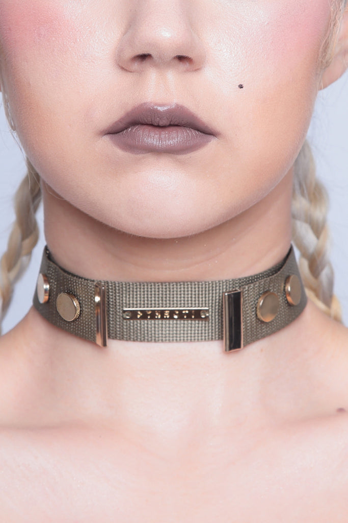 Luxe Militant Green Choker