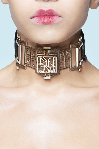 Kuji Kiri Golden Bricks Choker