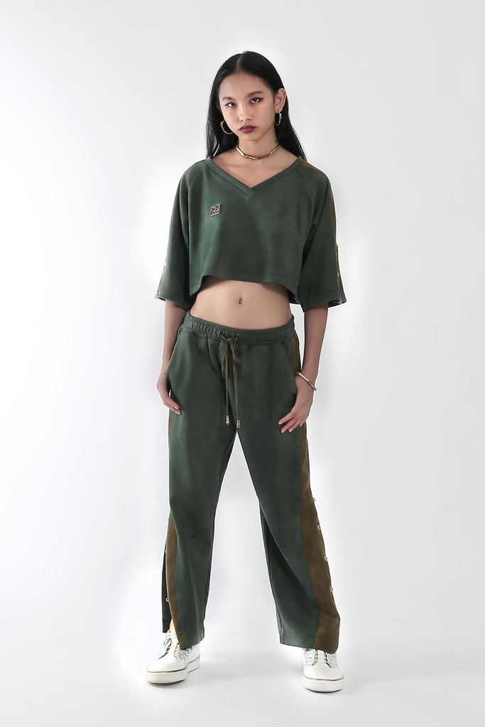 Luxe Military Green Sport Pants