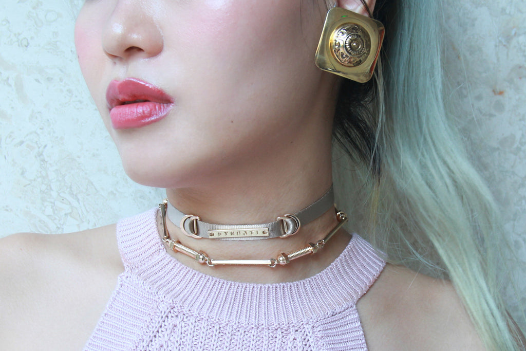 Champagne Luxe Skinny Choker