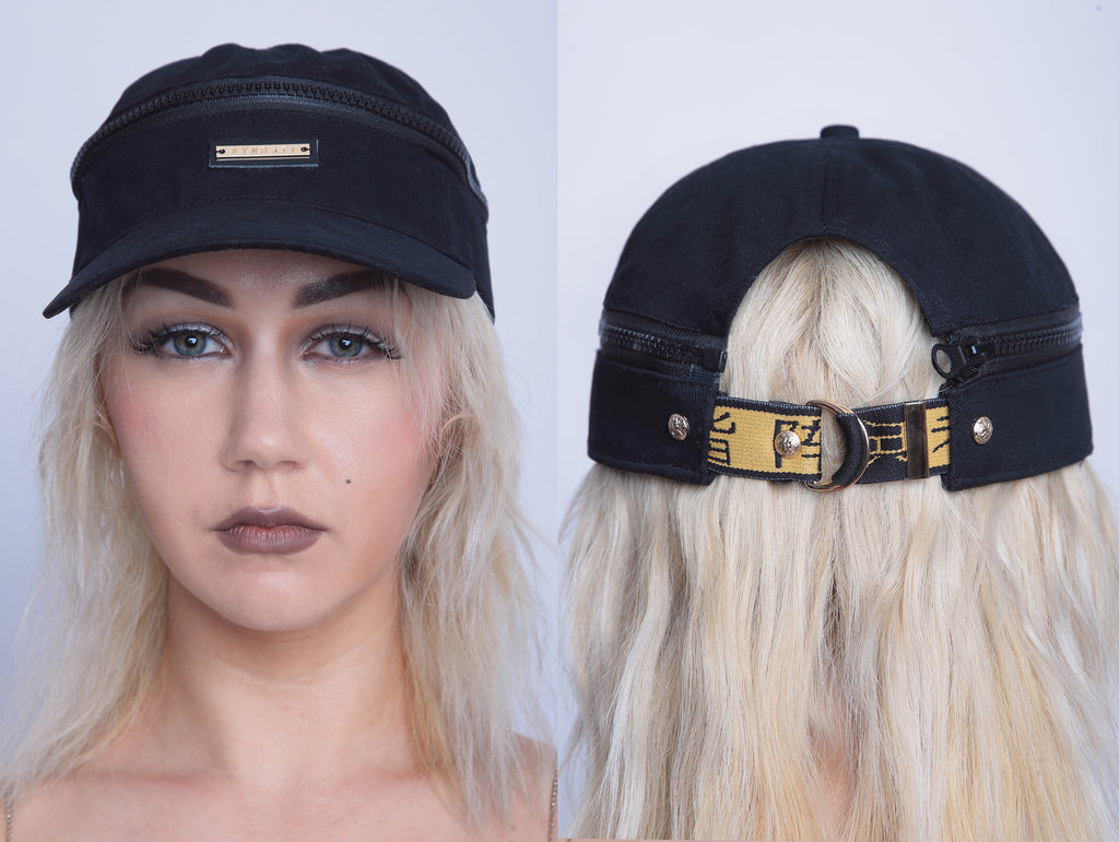 Two Way Kuji Kiri Cap/Visor in Black