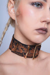 Chasing Dragons Brocade Belt Collar