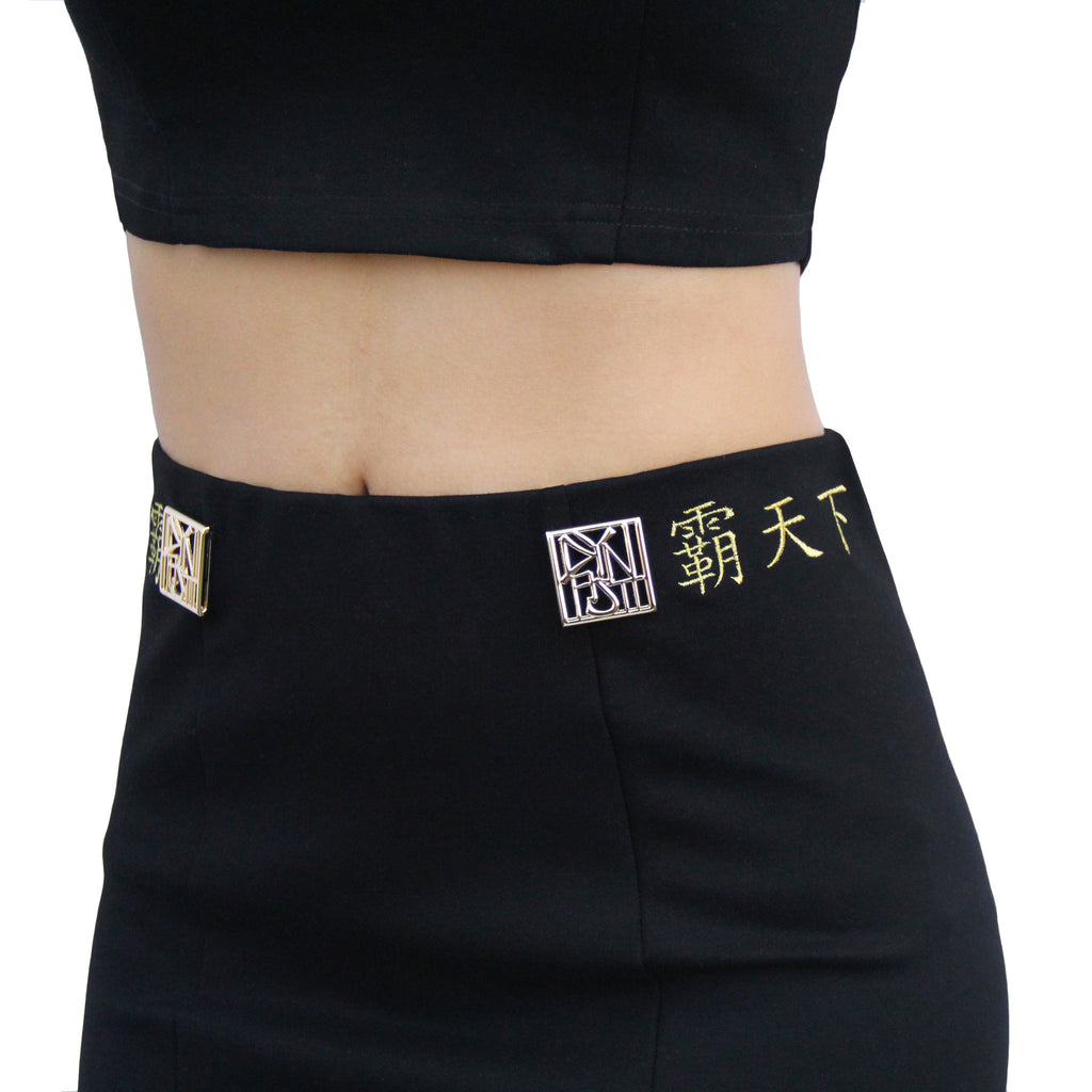 Lady Conqueror Embroidered Bodycon Skirt